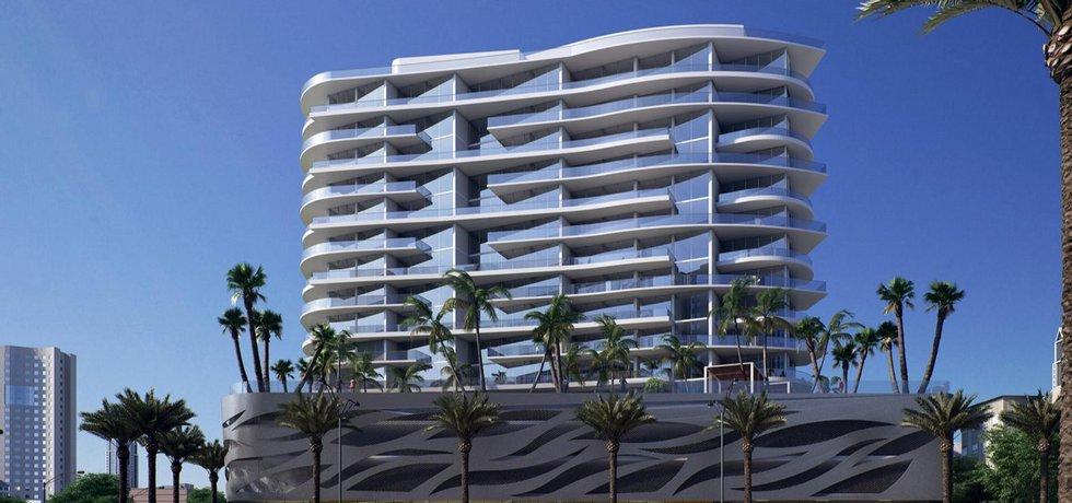 Luxusní bytová rezidence Aurora ve floridském Sunny Isles Beach.