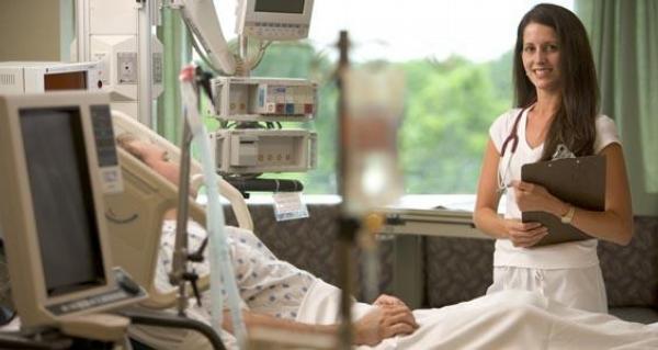 sestra, pacient, nemocnice, pokoj