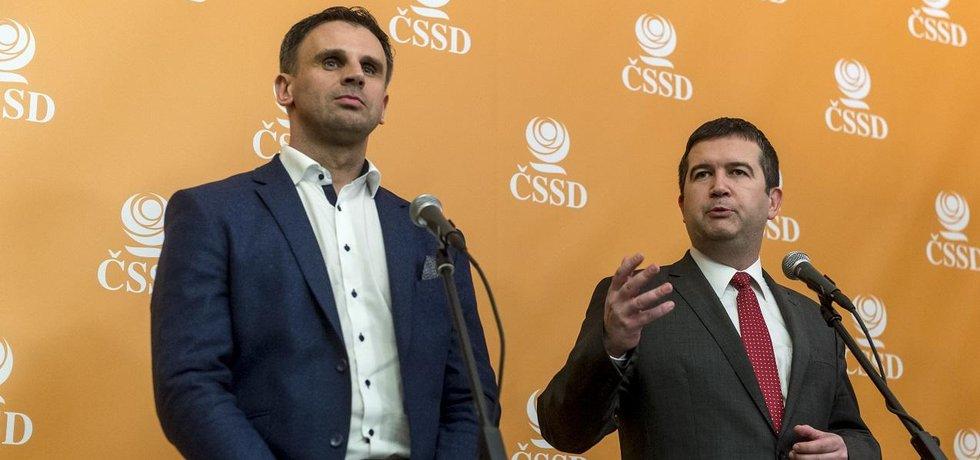 Vedení ČSSD: Jiří Zimola a Jan Hamáček