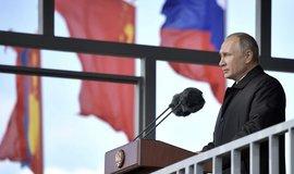 Ruský prezident Vladimir Putin během projevu na vojenském cvičení Východ 2018