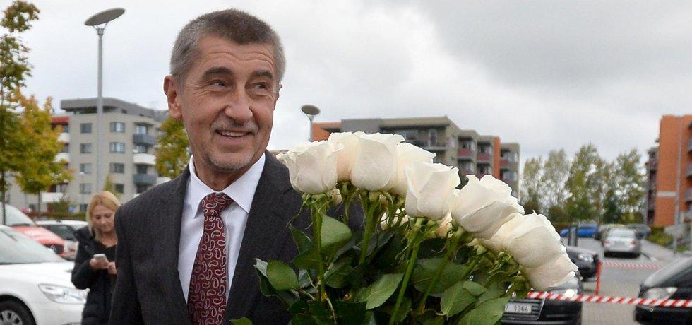 Šéf hnutí ANO Andrej Babiš po vyhraných volbách