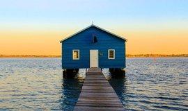 Crawley Edge Boatshed je oblíbenou atrakcí Instagrammerů