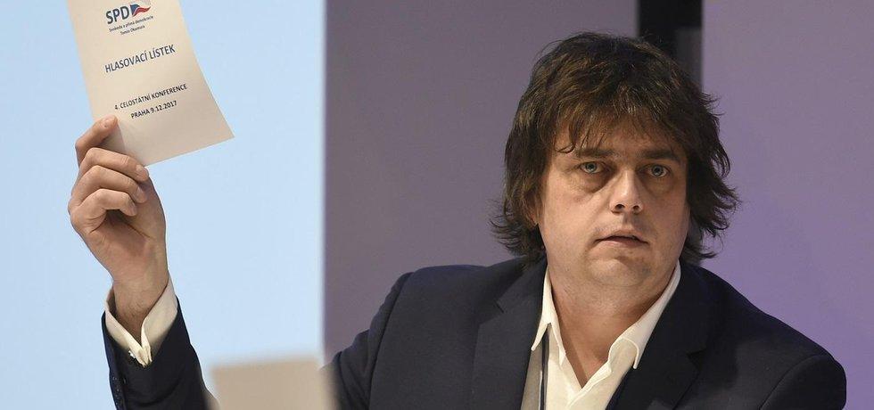 Poslanec SPD Miloslav Rozner