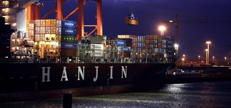Kontejnerová loď společnosti Hanjin Shipping