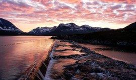 Přehrada v Norsku, ilustrační foto