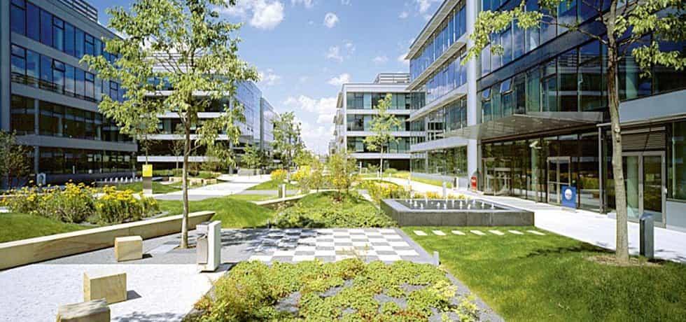 The Park. Jeden z nejvíce oceňovaných komerčních projektů postavených v době realitního boomu minulé dekády. Návrh areálu kancelářských budov obklopených zelení u frekventované dopravní tepny na pražském Chodově je dílem uznávaného ateliéru Cigler Marani Architects.