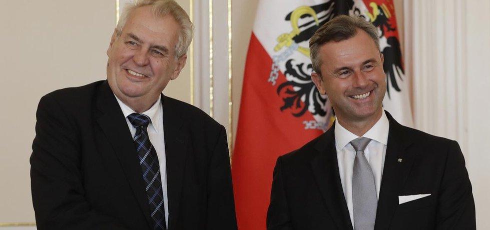 Miloš Zeman a Norbert Hofer (Zdroj: čtk)