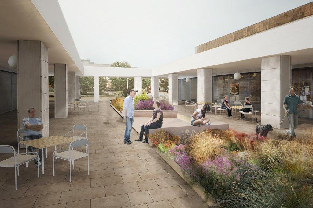 Náměstí získá nové povrchy, mobiliář, vodní prvek i zeleň, tedy stromy a trvalky