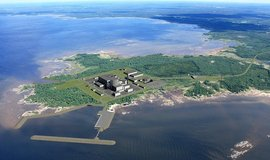 Vizualizace finské jaderné elektrárny Hanhikivi