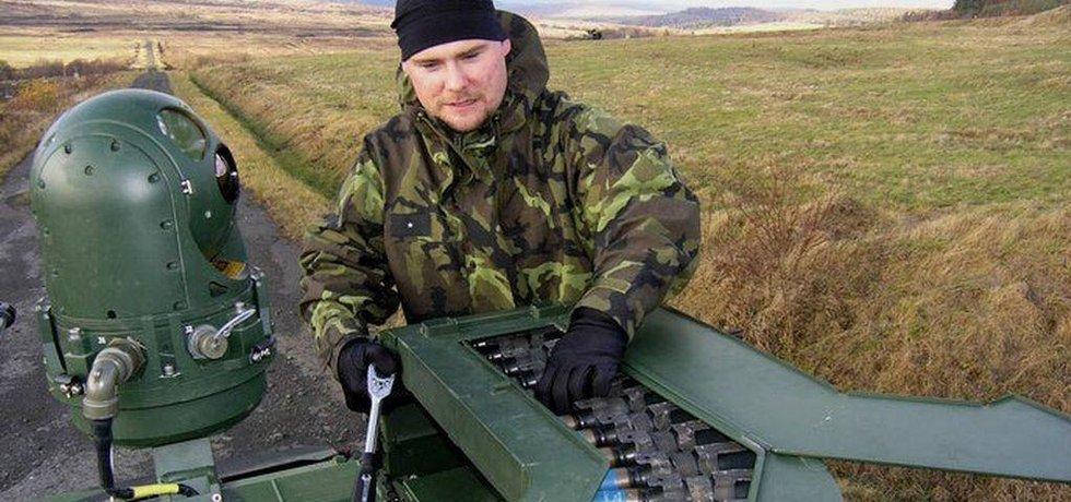 Cvičení ve vojenském prostoru Doupov