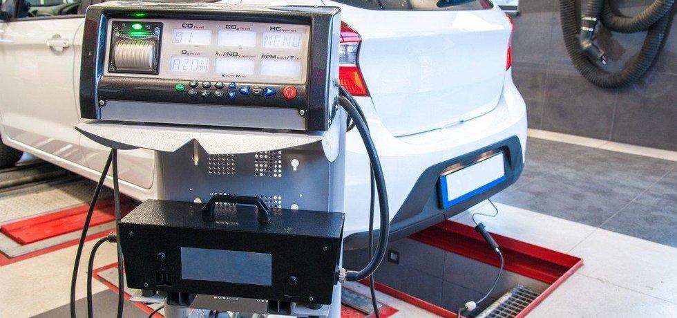 Měření emisí CO2 u automobilu