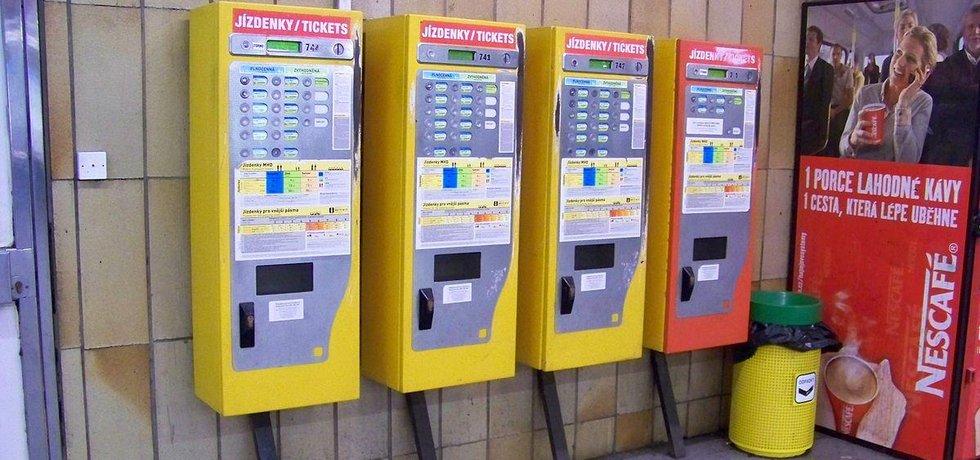 Jízdenkové automaty v PRaze