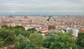 Park Guell s výhledem na Barcelonu
