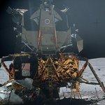 Lunární modul Apolla 16 na Měsíci v roce 1972.