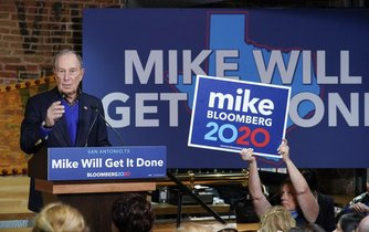 Kandidát na prezidenta USA Michael Bloomberg