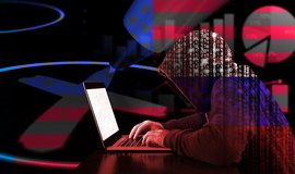 Ruský hacker, ilustrační foto