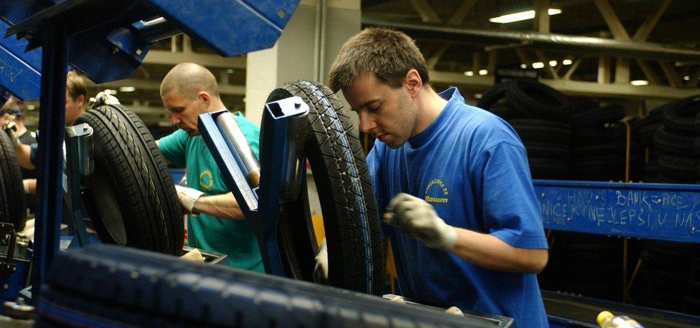 Výroba pneumatik ve společnosti Barum Continental