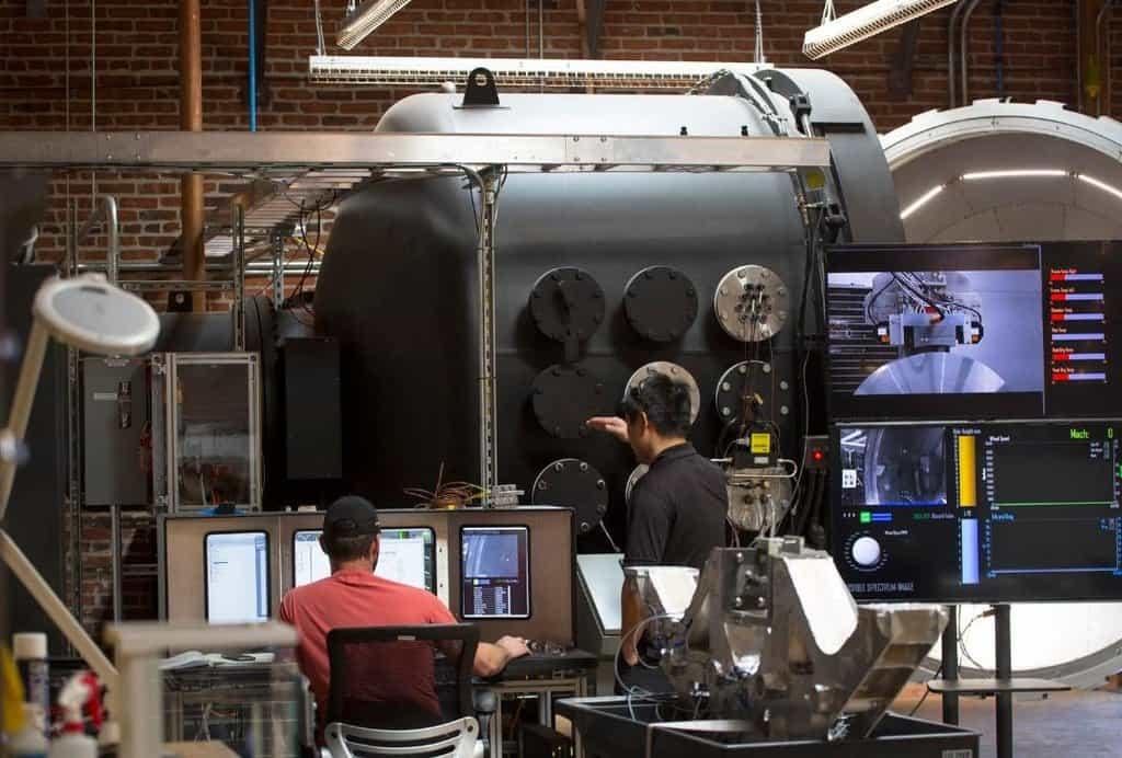 Testovací centrum Hyperloop One v Los Angeles.