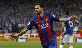 Argentinský fotbalista Lionel Messi, hrající za katalánský tým FC Barcelona