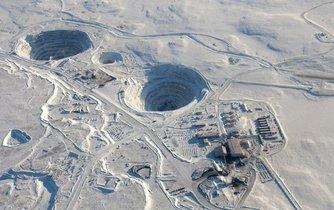 Diamantový důl BHP v Kanadě
