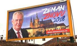 Zeman znovu. Volební kampaň stála stávajícího prezidenta 17 milionů korun