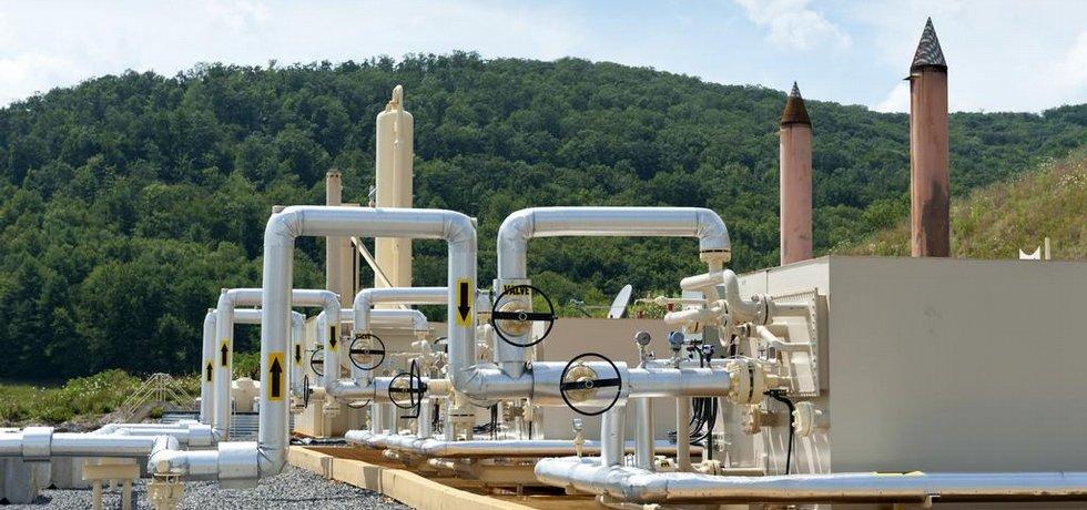Těžba břidličného plynu, ilustrační foto