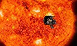 Sonda agentury NASA se má téměř dotknout Slunce. Umělecká ilustrace.