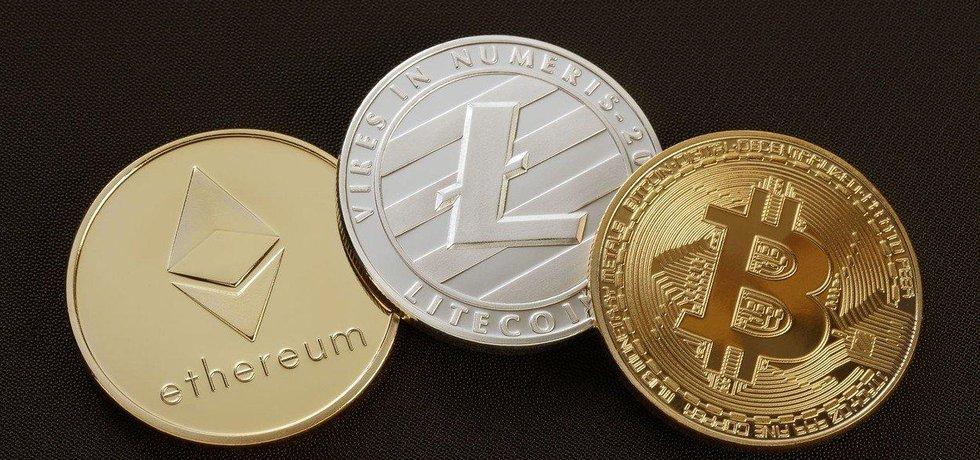 Kryptoměny ethereum, litecoin a bitcoin