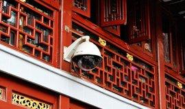 Kamera na veřejném prostranství v Šanghaji
