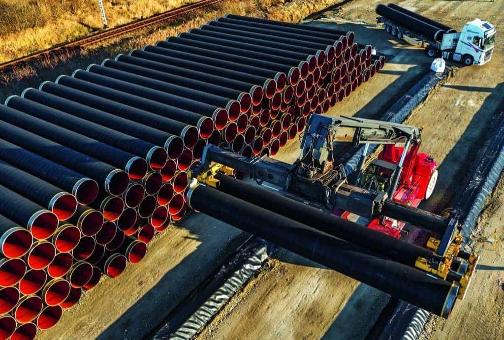 Výstavba kontroverzního plynovodu Nord Stream 2 začala na severu Německa v polovině roku 2017