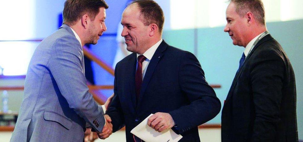 Vít Rakušan, Marek Výborný a Petr Gazdík