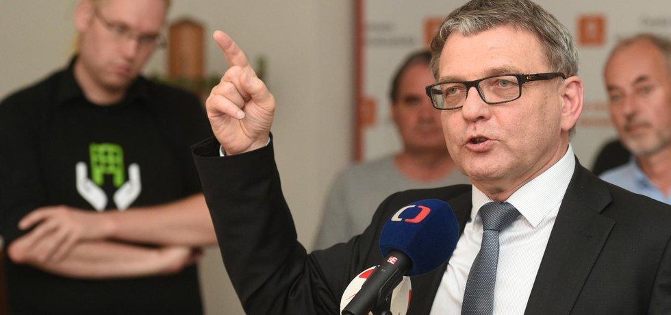 Volební lídr ČSSD Lubomír Zaorálek