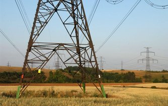 Elektrické vedení, ilustrační foto