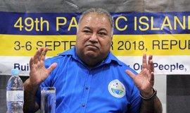 Prezident Nauru Baron Waqa.