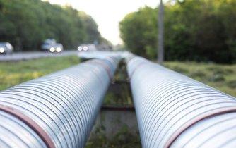 Plynové potrubí, ilustrační foto
