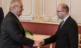 Prezident Miloš Zeman přijal demisi vlády Bohuslava Sobotky (ilustrační foto)