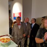 Karel Schwarzenberg na obhlídce volebního štábu