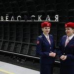 Otevření nové stanice moskevského metra Savelovskaja v prosinci 2018.