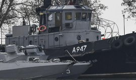 Poškozená ukrajinská loď