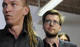 Předseda Pirátské strany Ivan Bartoš (vlevo) a místopředseda Jakub Michálek