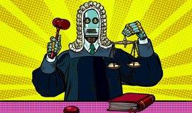 Robotický soudce - ilustrace
