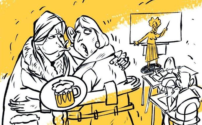 Ilustrace k eseji Za čest elit