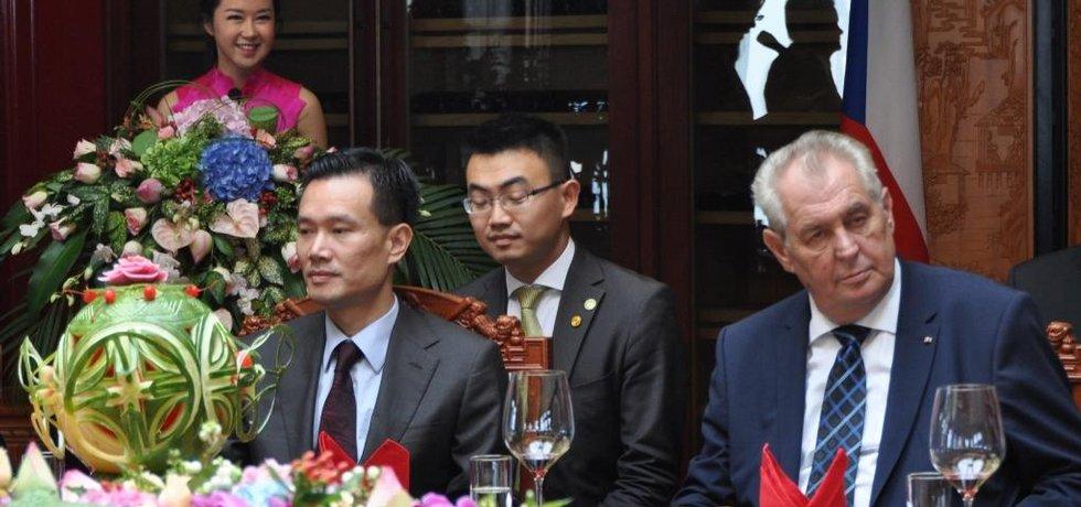Jie Ťien-ming a Miloš Zeman