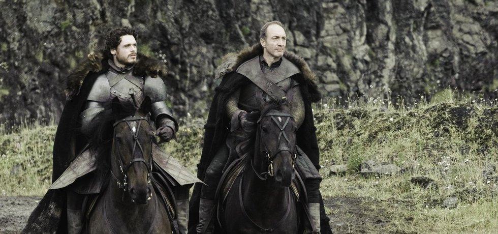Rob Stark a Roose Bolton v seriálu HBO Hra o trůny
