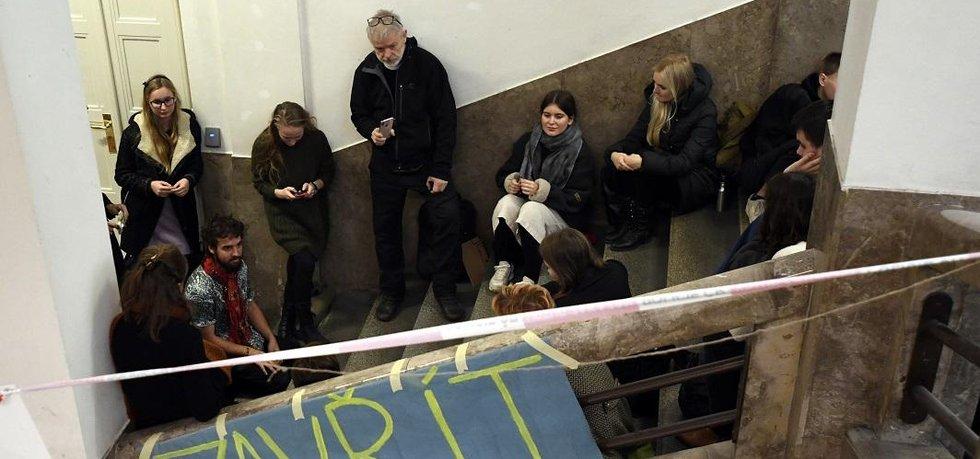 Studentská okupační stávka v budově Filozofické fakulty Univerzity Karlovy