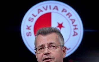 Předseda představenstva Slavie Jaroslav Tvrdík