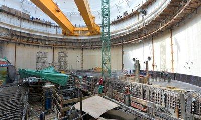 Stavba elektrárny - ilustrační foto