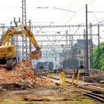 Stavba železničního koridoru