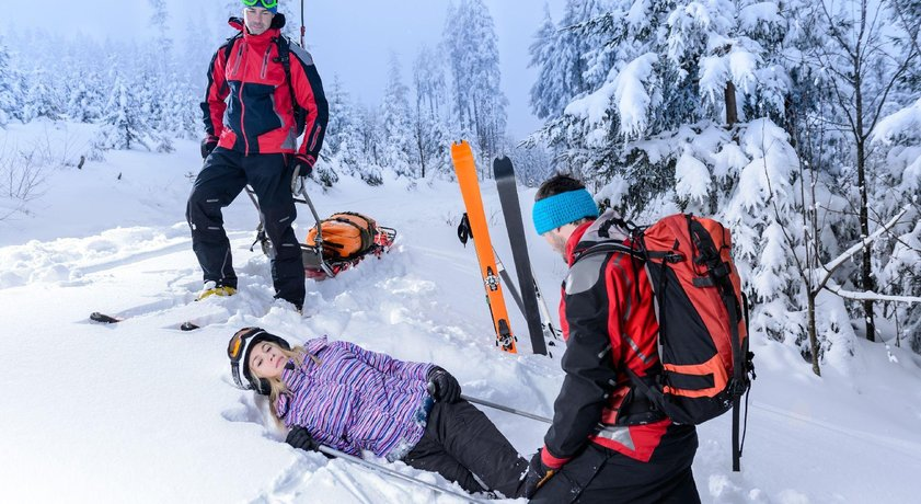 Lyžař - zranění