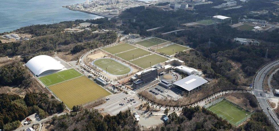 Japonské sportovní centrum J-Village v prefektuře Fukušima, ilustrační foto